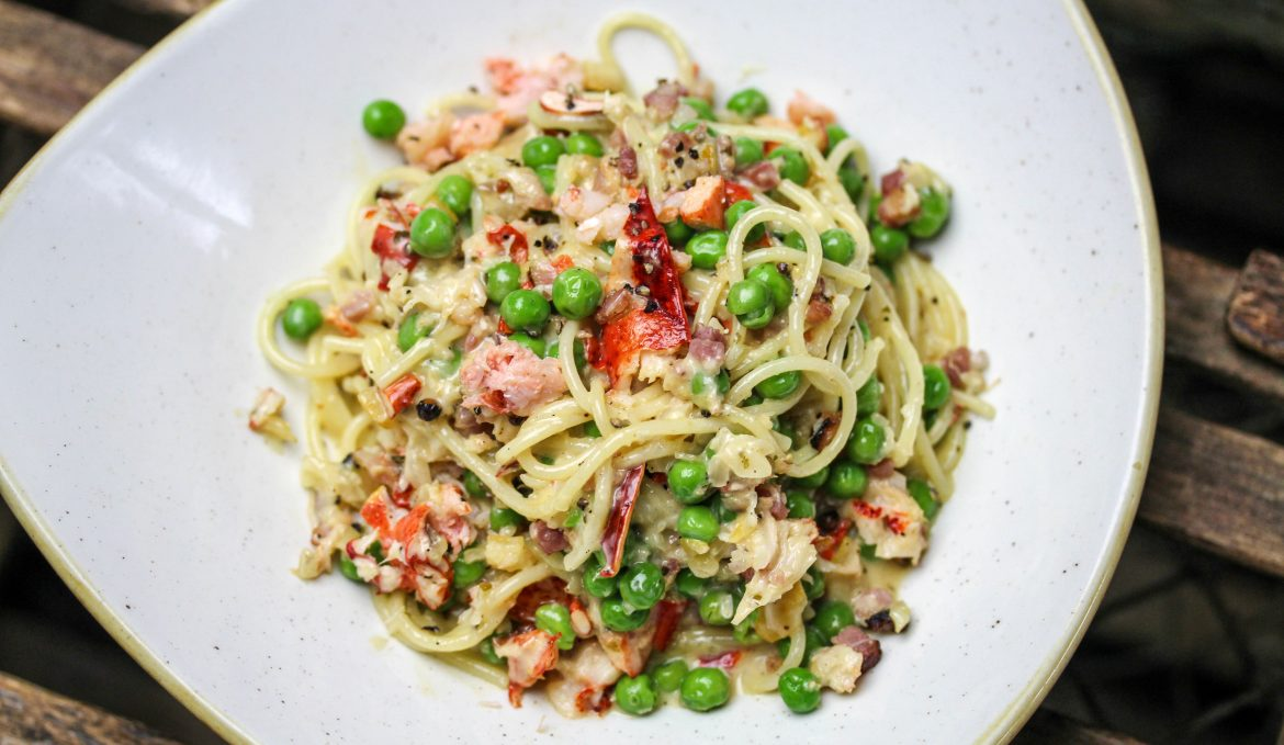 Lobster Carbonara with Spaghetti