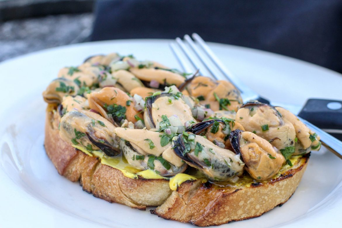 Knife and Fork Mussel Bruschetta