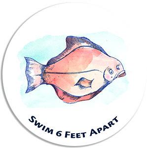 Swim 6 feet apart